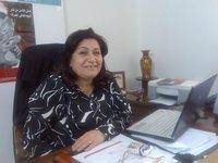 المحامية زينب الغنيمي، مديرة مركز الأبحاث والاستشارات القانونية للمرأة في غزة، الصورة كينيت روت