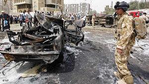 موقع تفجير إرهابي في بغداد، الصورة أ ب