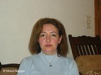 السيدة عفت أبو حمدان، الصورة منى النجار
