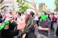 أنصار الثورة الخضراء، الصورة: ا.ب