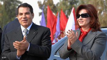 الرئيس التونسي وزوجته، الصورة أ.ب