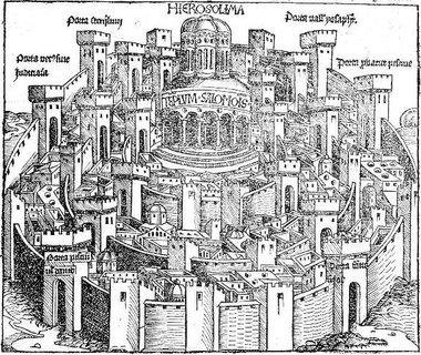 صورة للقدس، عام 1493، الصورة ويكيبيديا