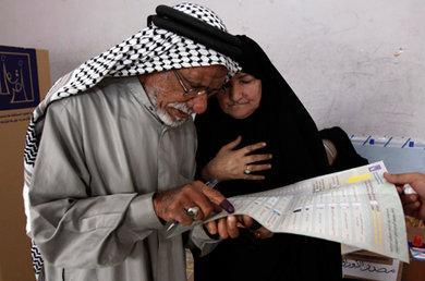 الانتخابات في العراق ، الصورة أ.ب