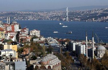 منظر عام لمدينة اسطنبول  الصورة د.ب.أِ