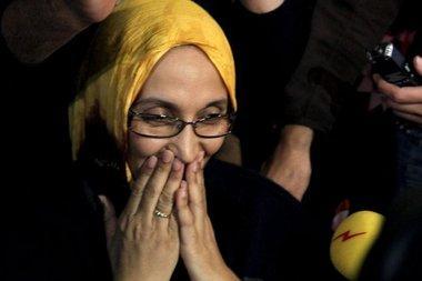 الناشطة الصحراوية أمنتو حيدر ، الصورة د.ب.ا