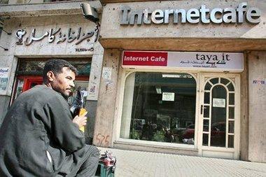 مفهى انترنت في مصر، الصورة د.ب.ا