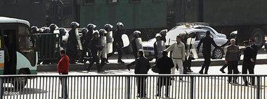 مشهد من المظاهرات التي تشهدها القاهرة في مايسمى بجمعة الغضب