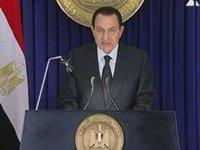 مبارك في خطاب ما قبل السقوط، الصورة أ.ب