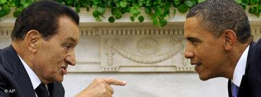 الرئيس مبارك والرئيس الأمريكي براك أوباما