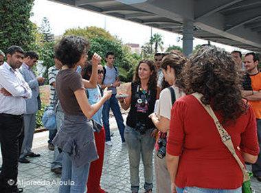 صورة لمجموعة من الشباب المغاربة.الصورة:الجريدة الأولى