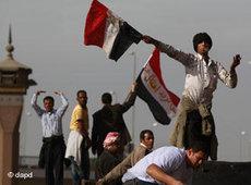 متظاهرون مصريون. الصورة:د ب أ