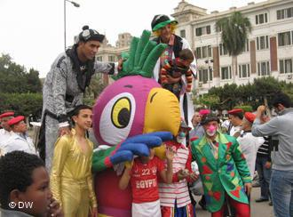 تجربة فنية بألوان الثورة المصرية