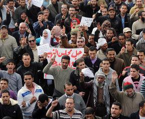 Protests in Ciaro, Egypt (photo: AP)