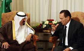 Husni Mubarak with King Abdullah (photo: AP)