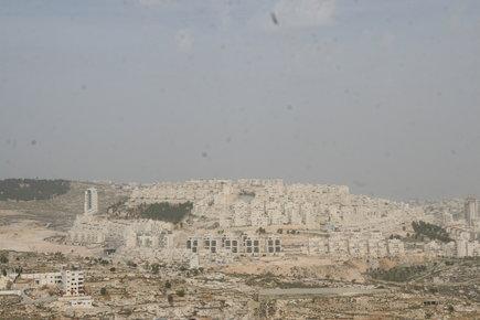 مستوطنة حارههوماه القريبة من بيت لحم، الصورة مهند حامد