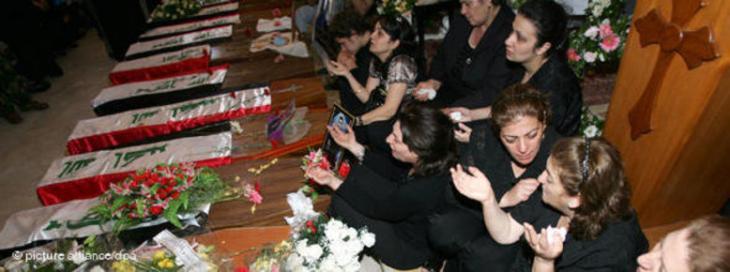ضحايا هجمات إرهابية في بغداد