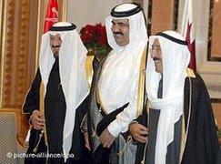العاهل السعودي ,امير الكويت وأمير قطر