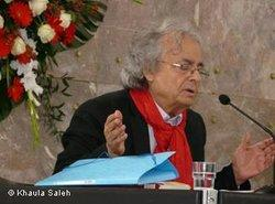 Adonis während der Goethe-Preisverleihung in Frankfurt; Foto: Khaula Saleh/DW