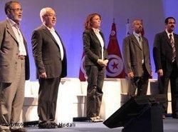 Ennahda-Führungskreis unter Suad Abdel Rahim; Foto: DW