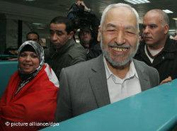 رشيد الغنوشي، زعيم حركة النهضة النوسية