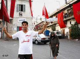 Verfassungsbefürworter in Casablanca; Marokko; Foto: AP