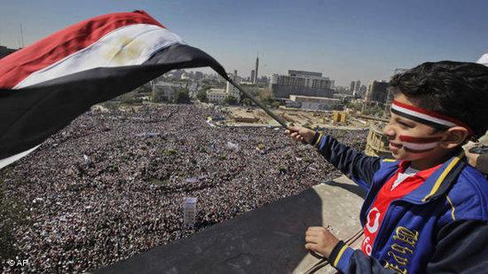 Friday prayers on Tahrir Square in Cairo after President Mubarak was ousted (photo: AP)