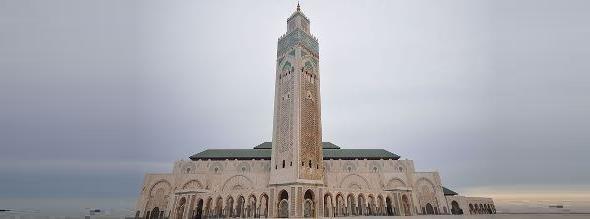جامع الحسن الثاني في الدار البيضاء، الصورة وكيبيديا
