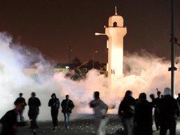 Proteste in Sitra; Foto: dpa