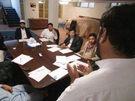 صحافيون في كابول الصورة ا ب