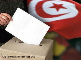Photo montage symbolising the 2011 elections in Tunisia (photo: Bilderbox/AP/Montage DW)