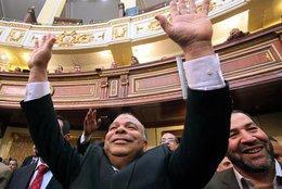 ، الصورة ا.ب ، رئيس البرلمان المصري المنتخب محمد سعد الكتاتني