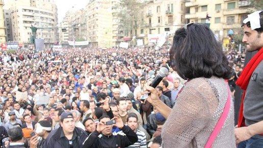 اهداف تخطب في ميدان التحرير، الصورة هاميلتون
