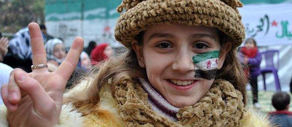 مظاهرة في الخالدية ضد قمع النظام السوري، الصورة اب ود ب اد
