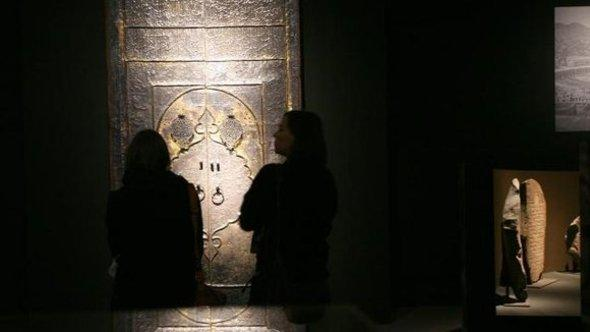 Solid silver entrance to the Kaaba dating from the Ottoman period (photo: dpa)