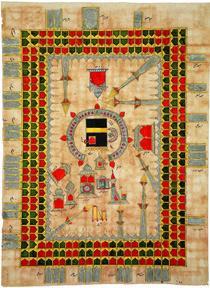Detail of a Hajj certificate dating from the seventeenth–eighteenth century (© Nasser D Khalili Collection of Islamic Art)