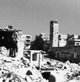 The city of Hama after government troops attacked in February 1982 (photo: Wikipedia)