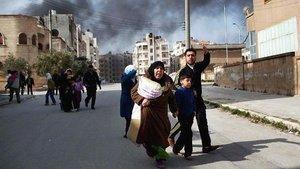 Beschuss Idlibs durch Armee-Einheiten Assads; Foto: dapd