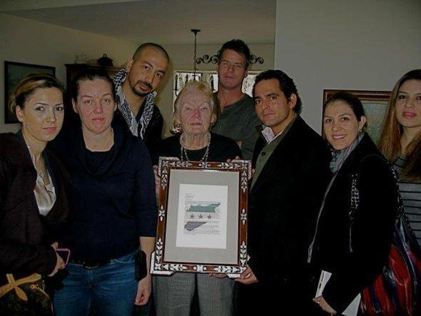 Malek Jandali together with the mother of the killed American journalist Marie Colvin (photo: Malek Jandali)