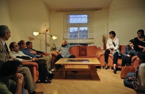 Klaus Rodewald and audience (photo: Christian Kleiner)