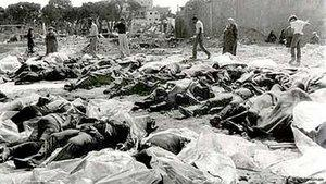 Murdered villagers of Deir Yassin (photo: DW/public domain)