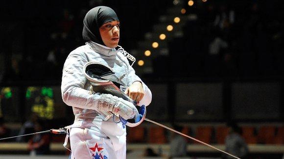 Fechterin Ibtihaj Muhammad; Foto: AP