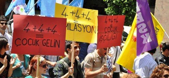 Demonstration in Ankara against the planned sc