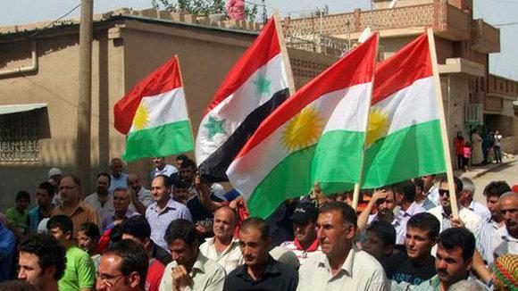 Kurdische Aufständische in Syrien; Foto: AP