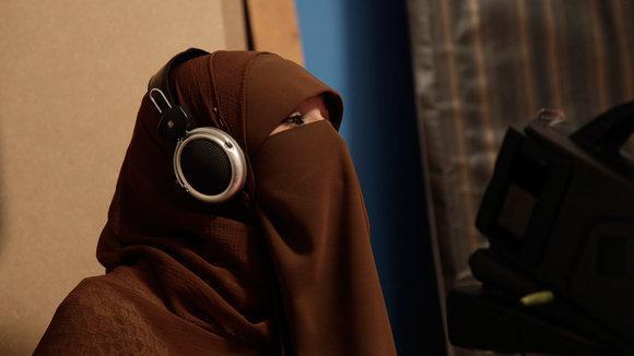 TV presenter Heba Seraj at the Maria Channel studio in Cairo (photo: dapd)