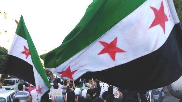 Anti-Assad protest in Jubar near Damascus (photo: Reuters)