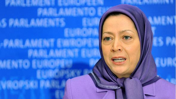 The president-elect of the National Council of Resistance of Iran (NCRI), Maryam Rajavi (L), speaks on December 1, 2010 at a meeting with European Parliament members at EU headquarters in Brussels (photo: AFP/Getty Images)