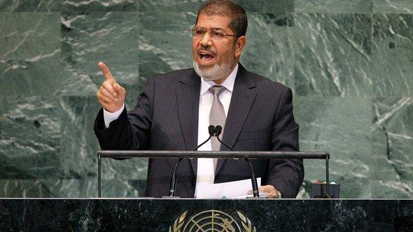 Mohammed Mursi adressing the General Assembly of the United Nations (photo: dapd)
