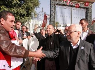 Rachid Ghannouchi, head of the Ennahda Movement (photo: AP)