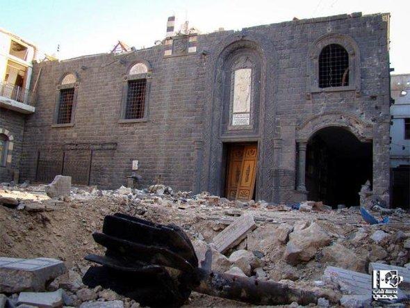 كنيسة السيدة العذراء مريم أم الزنار تقع في حي الحميدية في حمص