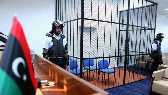 قاعة المحكمة في طرابلس. د ب أ